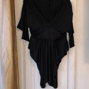 Plus size 3x plunge dress with waist band.